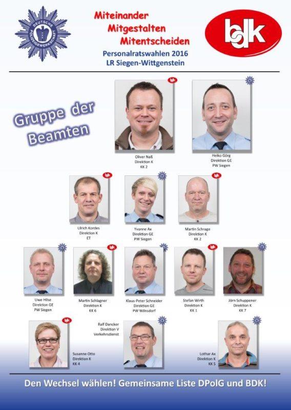 Plakat Peronalratswahl 2016